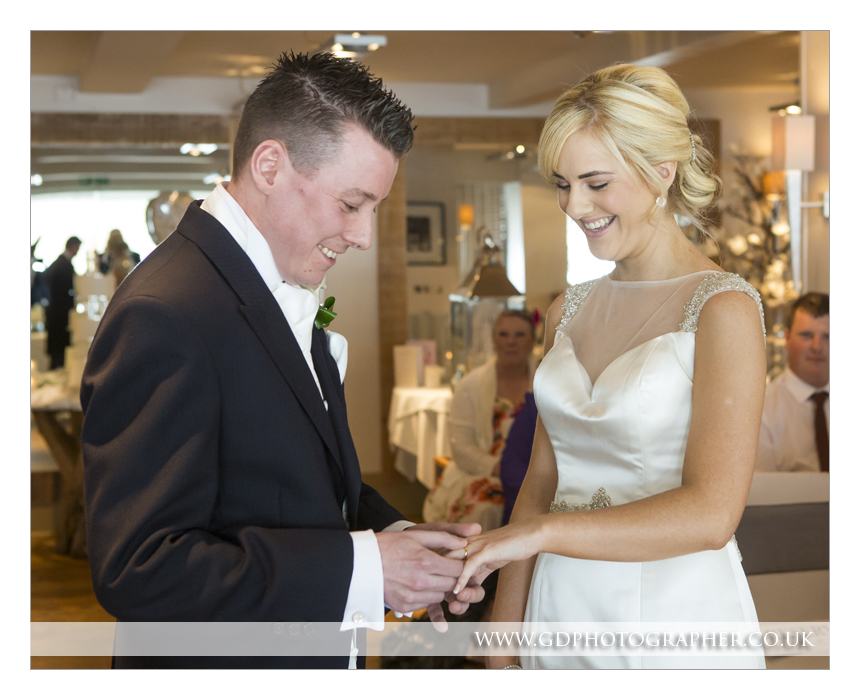 Wedding photographer at The Roslin Beach Hotel