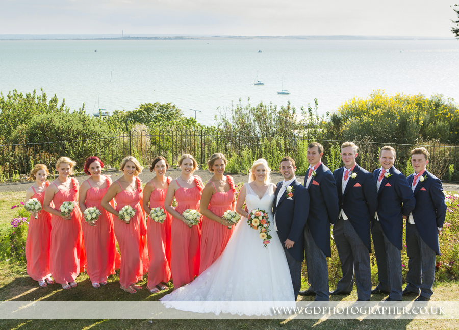 Wedding photographer at The Westcliff Hotel