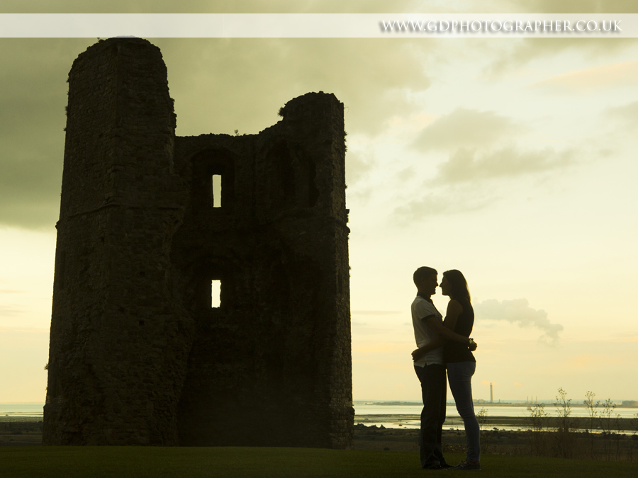 Couples photoshoot at Hadleigh Castle