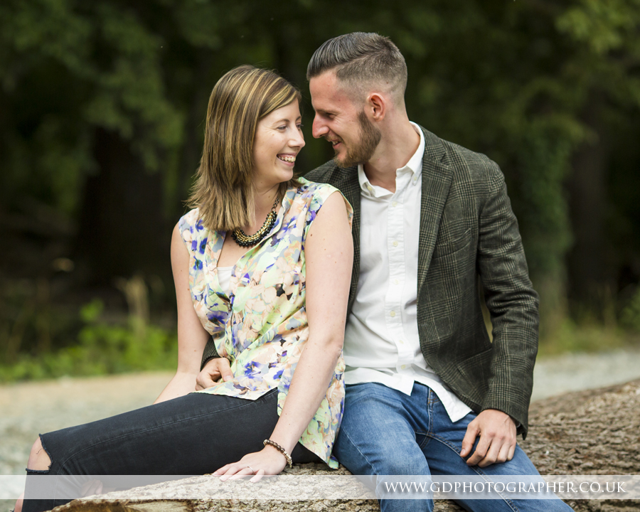Engagement shoot at Belfairs Woods Leigh