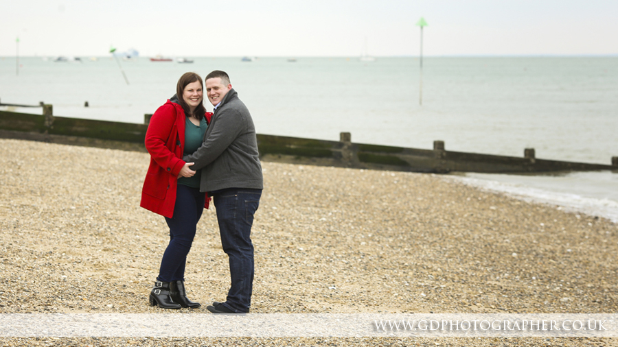 Engagement portraits in Southend