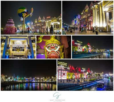 Night time at Global Village Dubai UAE